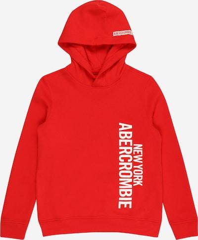 Abercrombie & Fitch Sweatshirt in rot / weiß, Produktansicht