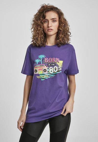Merchcode T-Shirt in türkis / gelb / dunkellila / mischfarben: Frontalansicht