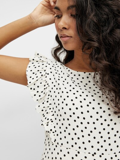 MAMALICIOUS Robe d'été 'Evelin' en noir / blanc naturel, Vue avec produit