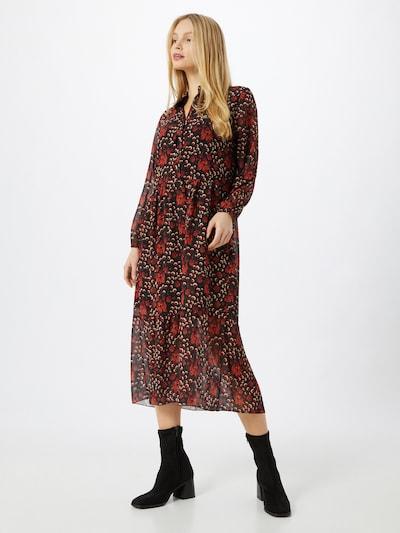 ZABAIONE Kleid 'Nina' in braun / schwarz / weiß, Modelansicht