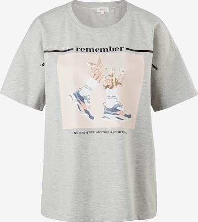 s.Oliver T-Shirt in navy / graumeliert / rosa / schwarz, Produktansicht
