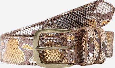 PIECES Gürtel in braun / gold / silber, Produktansicht