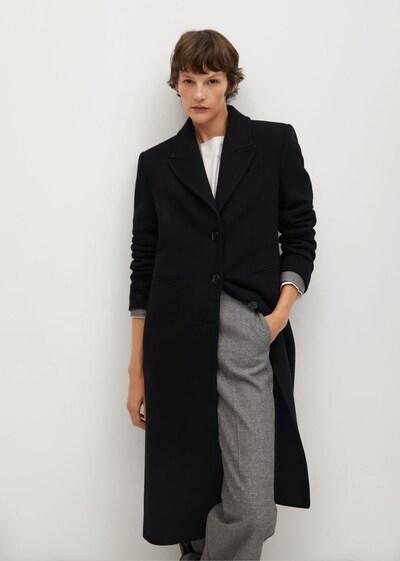 MANGO Manteau mi-saison 'Dandy' en noir, Vue avec modèle