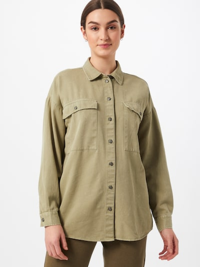 Noisy may Bluse 'Flanny' in khaki, Modelansicht
