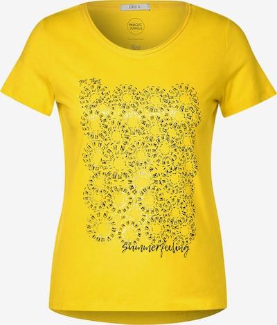 CECIL T-Shirt in gelb / silber: Frontalansicht