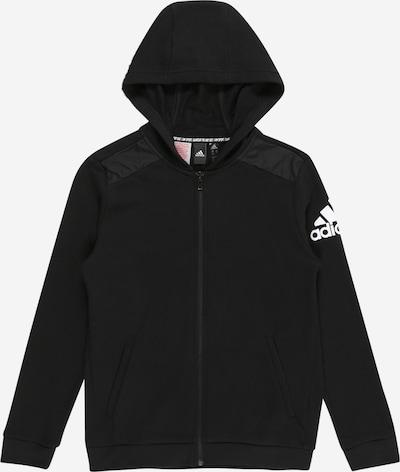 ADIDAS PERFORMANCE Hoodie in schwarz / weiß, Produktansicht