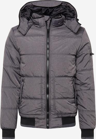 BLEND Prehodna jakna | pegasto siva / črna barva, Prikaz izdelka