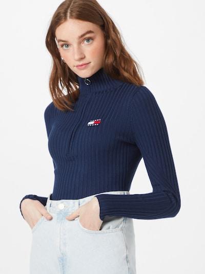 Pullover Tommy Jeans di colore navy, Visualizzazione modelli