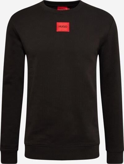 HUGO Sweatshirt 'Diragol' in hellrot / schwarz, Produktansicht