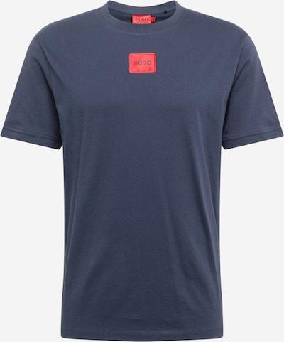 HUGO Shirt 'Diragolino' in marine / rot, Produktansicht