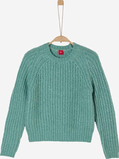 s.Oliver Lockerer Pullover im Cropped Style in petrol, Produktansicht