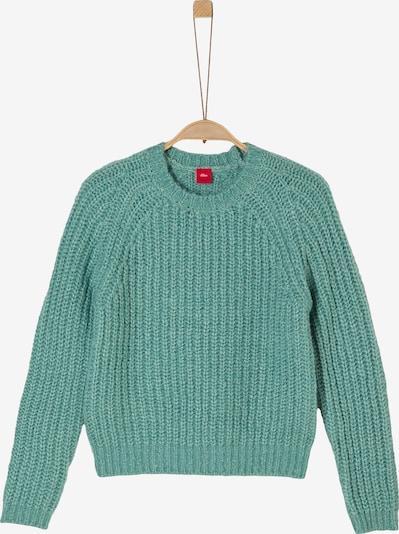s.Oliver Lockerer Pullover im Cropped Style in petrol, Produktansicht