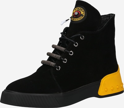 MUSTANG Lace-Up Ankle Boots in Yellow / Black, Item view