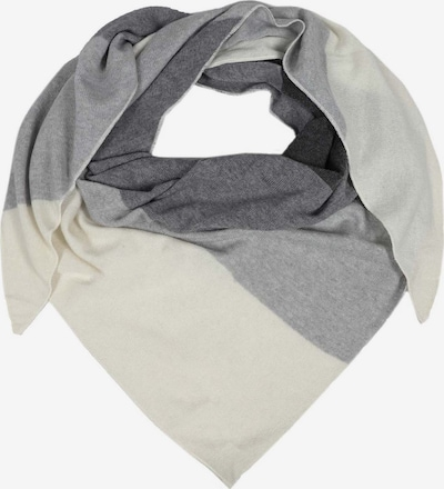 Zwillingsherz Shawl in anthracite / wool white, Item view
