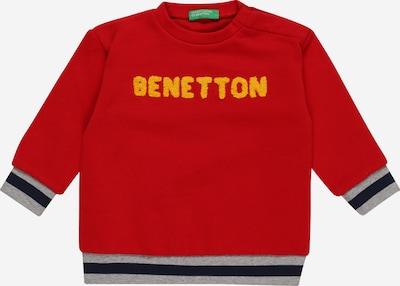 Bluză de molton UNITED COLORS OF BENETTON pe albastru închis / galben auriu / gri amestecat / roșu, Vizualizare produs