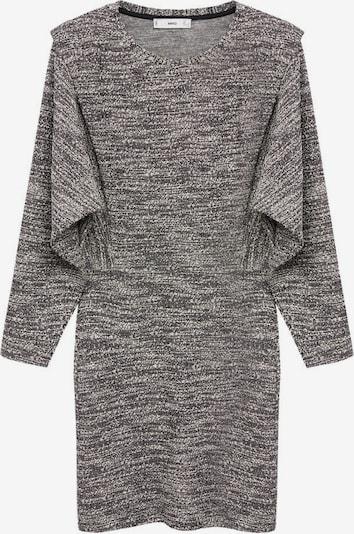MANGO Pletené šaty 'Opra' - čierna / biela, Produkt