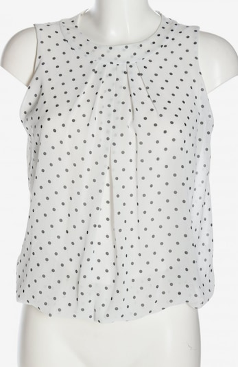 UNBEKANNT ärmellose Bluse in S in schwarz / weiß, Produktansicht