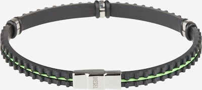 DIESEL Bracelet 'A-PHYTI' in light green / black, Item view