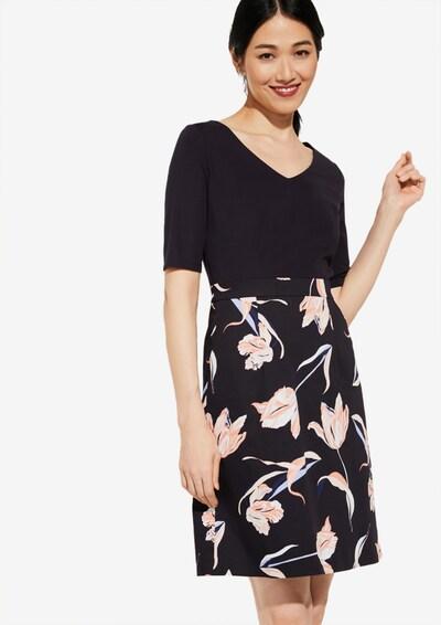 COMMA Kleid in nachtblau / mischfarben, Modelansicht