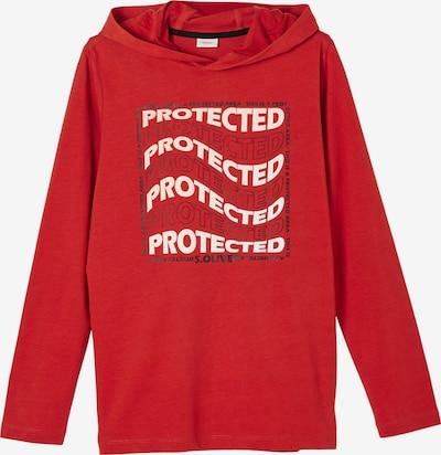 s.Oliver T-Shirt en rouge / noir / blanc, Vue avec produit