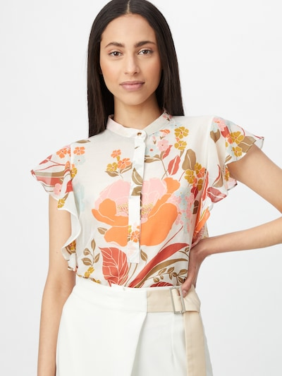 Marella Blusa 'STENO' en mezcla de colores / blanco, Vista del modelo