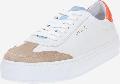 PAVEMENT Sneaker 'Camille' in dunkelbeige / orange / weiß, Produktansicht