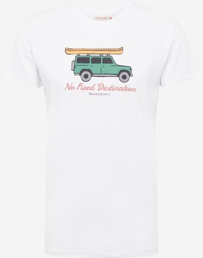Revolution T-Shirt in mischfarben / weiß, Produktansicht
