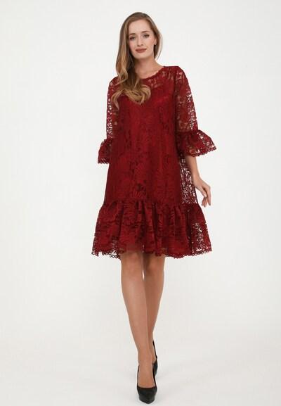 Madam-T Cocktailkleid in rot, Modelansicht