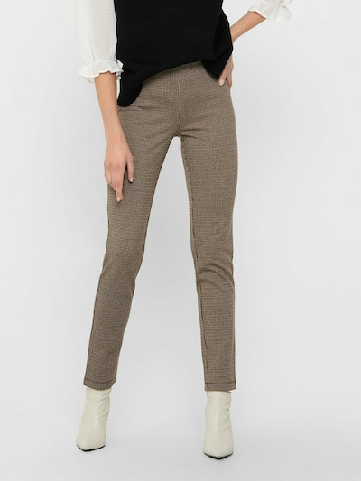 JACQUELINE de YONG Leggings 'Mandy' in de kleur Beige / Bruin / Zwart, Modelweergave