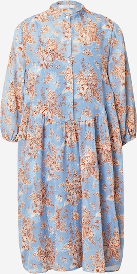 Rochie tip bluză 'Love623-1' Love & Divine pe bej / albastru / bronz, Vizualizare produs