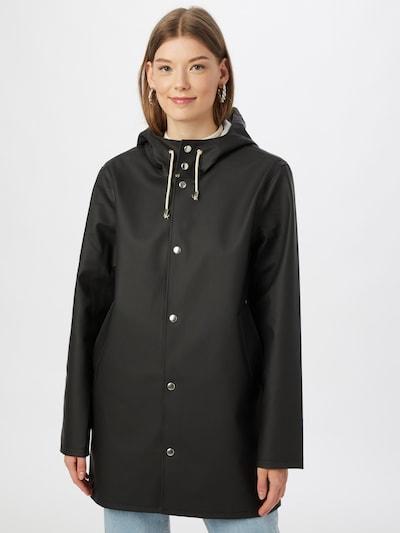 Stutterheim Overgangsfrakke 'Stockholm' i sort, Modelvisning
