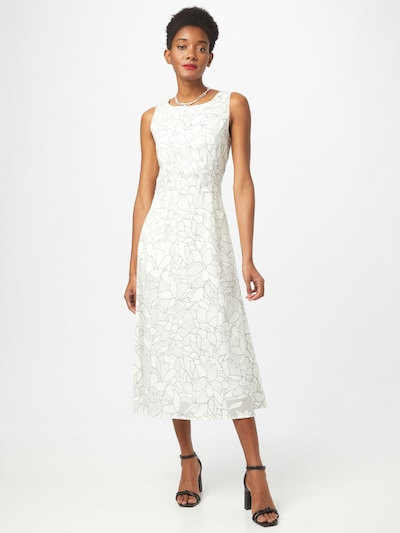 APART Midi-Kleid mit Blütenausbrenner in creme / schwarz, Modelansicht