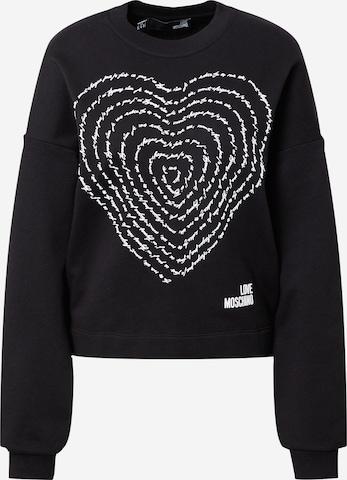 melns Love Moschino Sportisks džemperis
