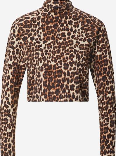 ONLY Shirt 'Bella Love' in beige / braun / dunkelbraun, Produktansicht