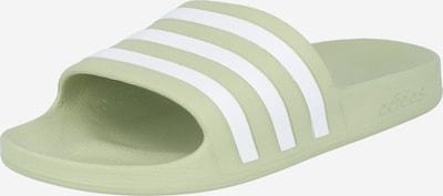 ADIDAS PERFORMANCE Zapatos para playa y agua 'Aqua Adilette' en verde claro / blanco, Vista del producto