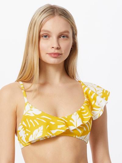 aranysárga / fehér watercult Bikini felső, Modell nézet