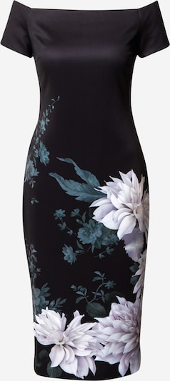 Vakarinė suknelė 'Peaony' iš Ted Baker , spalva - smaragdinė spalva / levandų spalva / juoda, Prekių apžvalga