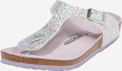 BIRKENSTOCK Sandalias 'Gizeh' en mezcla de colores / plata, Vista del producto