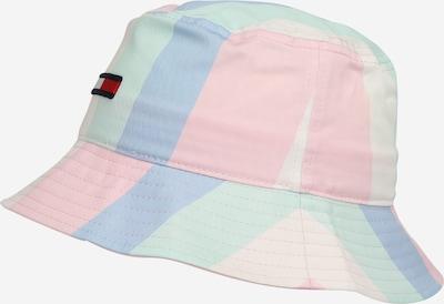 Tommy Jeans Шапка с периферия в опушено синьо / пастелно жълто / пастелно зелено / пастелно розово / червено, Преглед на продукта