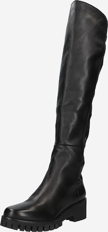 Donna Carolina Over the Knee Boots in Black