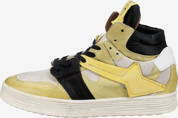 A.S.98 High-Top Sneakers in Yellow