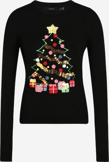 VERO MODA Trui 'CHRISTMAS TREE' in de kleur Goud / Gemengde kleuren / Lichtroze / Rood / Zwart, Productweergave