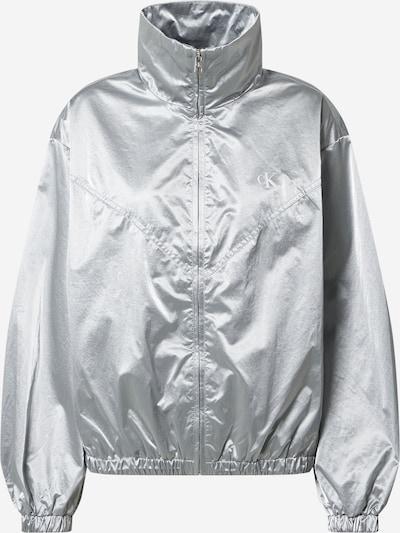 Calvin Klein Jeans Övergångsjacka i silver / vit, Produktvy