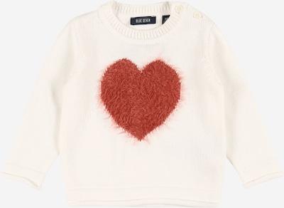 BLUE SEVEN Пуловер в ръждиво червено / мръсно бяло, Преглед на продукта