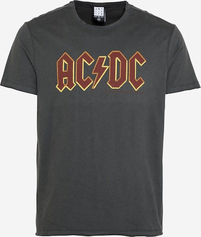 AMPLIFIED Shirt 'ACDC' in graphite / dark red, Item view