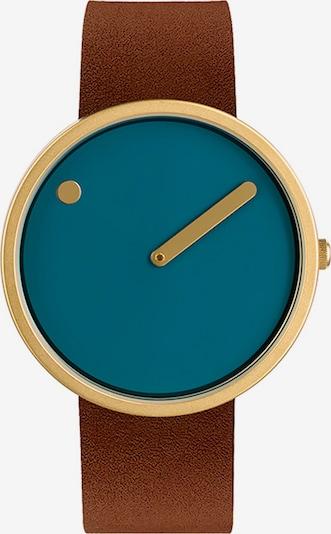 Picto Uhr in blau / braun / gold, Produktansicht