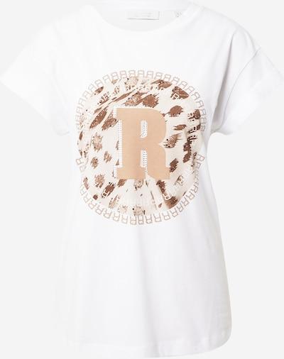 Rich & Royal T-shirt i ljusbrun / vit, Produktvy