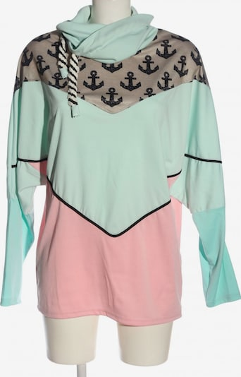 Misslook Sweatshirt in L in türkis / braun / pink, Produktansicht