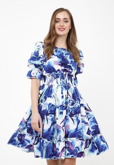 Madam-T Sommerkleid NARCISARA' in blau / weiß, Modelansicht