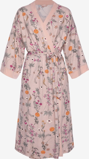 LASCANA Dressing Gown in Navy / Orange / Pink, Item view